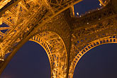 eiffel tower detail stock photography | France, Paris, Eiffel Tower at night, image id 6-450-6082