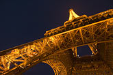 eiffel tower detail stock photography | France, Paris, Eiffel Tower at night, image id 6-450-6085