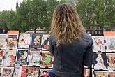 person stock photography | France, Paris, Souvenir postscards, Left Bank, image id 6-450-6133