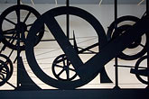 franzosen stock photography | France, Paris, Centre Pompidou, Requiem pur une feuille morte, Jean Tinguelly, 1967, image id 6-450-6178
