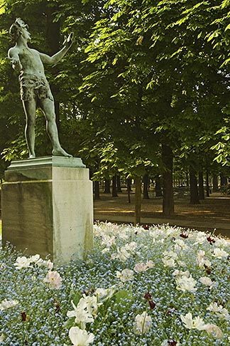 image 6-450-6249 France, Paris, Jardins des Luxembourg, Luxembourg Gardens, Statue of Pan