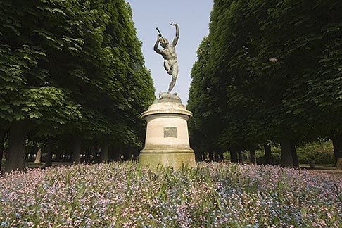 image 6-450-6263 France, Paris, Jardins des Luxembourg, Luxembourg Gardens, Statue of Pan