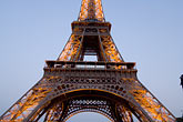 eiffel tower detail stock photography | France, Paris, Eiffel Tower at night, image id 6-450-6359