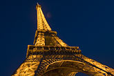 close up stock photography | France, Paris, Eiffel Tower at night, image id 6-450-6392