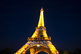 close up stock photography | France, Paris, Eiffel Tower at night, image id 6-450-6395