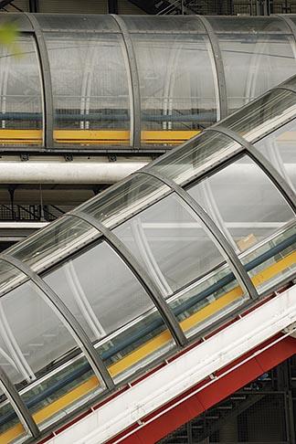 image 6-450-647 France, Paris, Pompidou Center, escalator