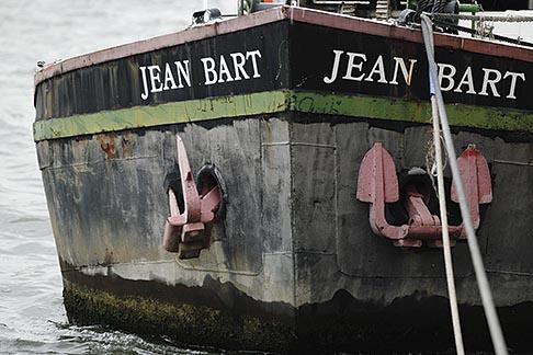 image 6-450-661 France, Paris, RIver Seine, boat moored