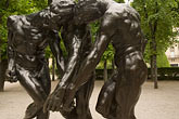 horizontal stock photography | France, Paris, Rodin Museum, The Burghers of Calais, image id 6-450-6657