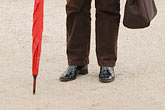 legs only stock photography | France, Man with Umbrella, image id 6-450-691