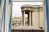curtain stock photography | France, Paris, The Pantheon from hotel window, image id 6-450-70