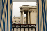 curtain stock photography | France, Paris, The Pantheon from hotel window, image id 6-450-71