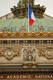 flag stock photography | France, Paris, Paris Op�ra, designed by Charles Garnier, image id 6-450-727