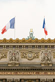 flag stock photography | France, Paris, Paris Op�ra, designed by Charles Garnier, image id 6-450-740