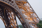 steel stock photography | France, Paris, Eiffel Towee, detail at night, image id 6-450-817