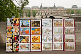 souvenir cards stock photography | France, Paris, Souvenir prints and cards, Left Bank, image id 6-450-82