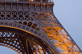 eiffel tower detail stock photography | France, Paris, Eiffel Tower , detail at night, image id 6-450-826