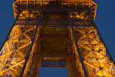eiffel tower detail stock photography | France, Paris, Eiffel Tower at night, image id 6-450-836