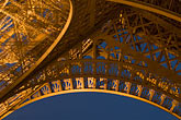 close up stock photography | France, Paris, Eiffel Tower at night, image id 6-450-839