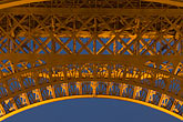 close up stock photography | France, Paris, Eiffel Tower at night, image id 6-450-841