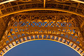 eiffel tower detail stock photography | France, Paris, Eiffel Tower at night, image id 6-450-842