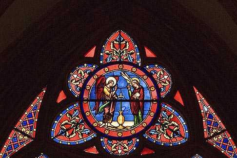 image 6-450-968 France, Normandy, Bayeux, Bayeux Cathedral, stained glass