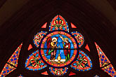 glass stock photography | France, Normandy, Bayeux, Bayeux Cathedral, stained glass, image id 6-450-968