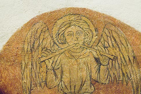 image 6-450-970 France, Normandy, Bayeux, Bayeux Cathedral, crypt, angel painting