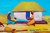 two women only stock photography | Malawi, The Gaia Organization, AIDS education painting, image id 4-979-7651