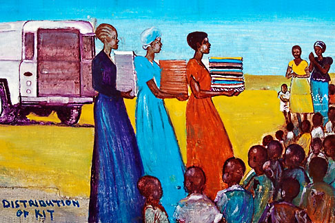 image 4-979-7652 Malawi, The Gaia Organization, AIDS education painting