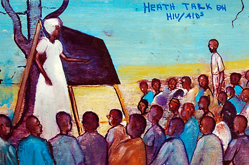 image 4-979-7657 Malawi, The Gaia Organization, AIDS education painting