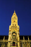 downtown district stock photography | Germany, Munich, Neue Rathaus (New Town Hall) on Marienplatz, image id 3-920-18