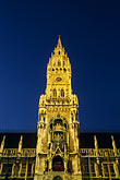 town square stock photography | Germany, Munich, Neue Rathaus (New Town Hall) on Marienplatz, image id 3-920-19