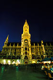 town square stock photography | Germany, Munich, Neue Rathaus (New Town Hall) on Marienplatz, image id 3-920-22