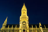 ornate stock photography | Germany, Munich, Neue Rathaus (New Town Hall) on Marienplatz, image id 3-920-26