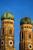 church steeple stock photography | Germany, Munich, Frauenkirche towers, image id 3-920-35