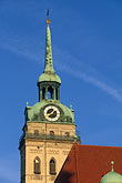 church roof stock photography | Germany, Munich, Peterskirche or Alter Peter, St. Peter