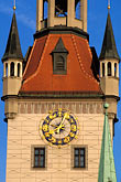 town hall clock stock photography | Germany, Munich, Altes Rathaus (Old Town Hall), 1470, image id 3-920-65