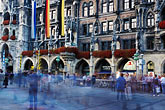 rathaus stock photography | Germany, Munich, Marienplatz crowd, image id 3-921-6