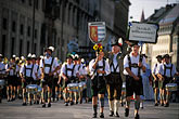 small group of men stock photography | Germany, Munich, Oktoberfest, Parade of Folklore Groups, image id 3-950-26