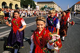 crowd stock photography | Germany, Munich, Oktoberfest, Parade of Folklore Groups, image id 3-950-75