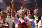 crowd stock photography | Germany, Munich, Oktoberfest, Parade of Folklore Groups, image id 3-950-84