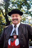 one mature man stock photography | Germany, Munich, Oktoberfest, Parade of Festival Hosts and Breweries, image id 3-950-89