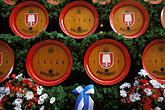 fair stock photography | Germany, Munich, Oktoberfest, Beer barrels on horse-drawn wagon, image id 3-950-98