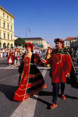 crowd stock photography | Germany, Munich, Oktoberfest, Parade of Folklore Groups, image id 3-951-16