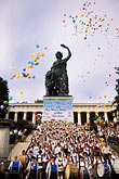 statue of saint stock photography | Germany, Munich, Oktoberfest, Band concert, image id 3-951-42
