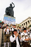 small group of men stock photography | Germany, Munich, Oktoberfest, Band concert, image id 3-951-54