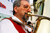 bavarian man stock photography | Germany, Munich, Oktoberfest, Band concert, image id 3-951-56