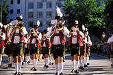 brass band stock photography | Germany, Munich, Oktoberfest, Parade of Festival Hosts and Breweries, image id 3-951-70