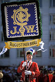 banner stock photography | Germany, Munich, Oktoberfest, Parade of Festival Hosts and Breweries, image id 3-951-81