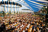 tent stock photography | Germany, Munich, Oktoberfest, Beer hall, image id 3-951-99
